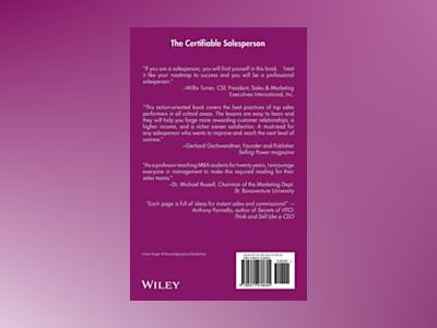 The CertifiableTM Salesperson: The Ultimate Guide to Help Any Salesperson G av Tom Hopkins