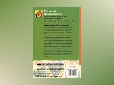 Personal Relationships: Implications for Clinical and Community Psychology av Barbara R. Sarason
