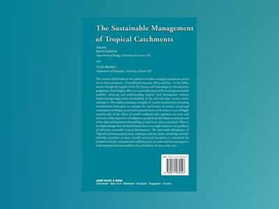 Sustainable Management of Tropical Catchments av David Harper