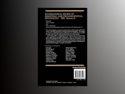 International Review of Industrial and Organizational Psychology, Volume 13 av Cary L. Cooper