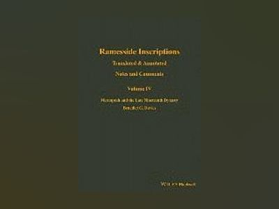 Ramesside Inscriptions, Volume IV, Notes and Comments av Benedict G. Davies