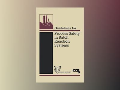 Guidelines for Process Safety in Batch Reaction Systems av Center for Chemical Process Safety