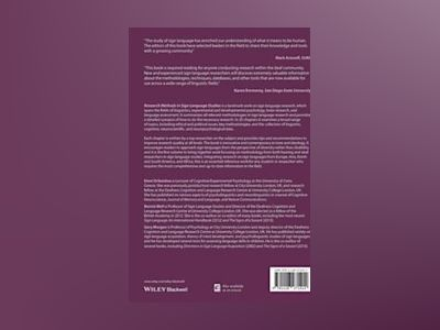 Research Methods in Sign Language Studies: A Practical Guide av Eleni Orfanidou