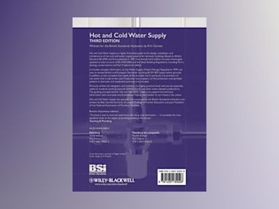 Hot and Cold Water Supply, 3rd Edition av BSI