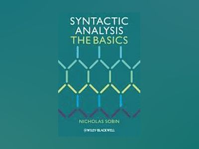 Syntactic Analysis: The Basics av Nicholas Sobin