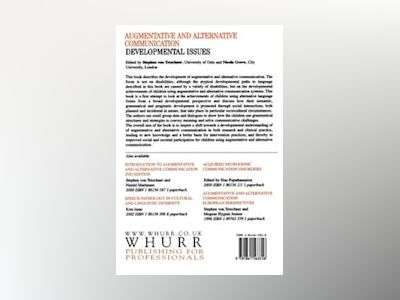 Augmentative and Alternative Communication: Developmental Issues av Stephen von Tetzchner