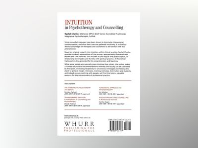 Intuition in Psychotherapy and Counselling av Rachel Charles