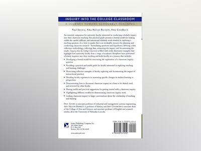 Inquiry into the College Classroom: A Journey Toward Scholarly Teaching av Paul Savory