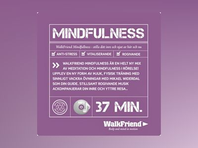 Ljudbok WalkFriend Mindfulness - Mikael Widerdal