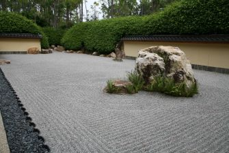 rock garden at Morikami Museum