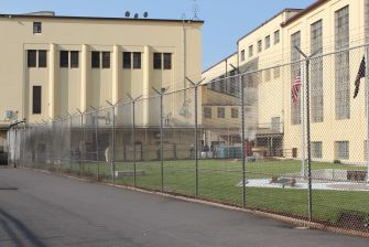 fence and buildings at Oregon State Penitentiary