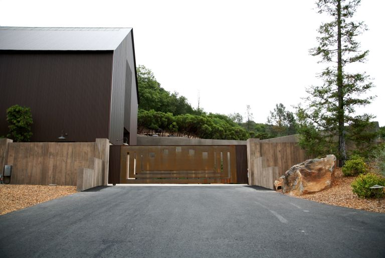 gate and driveway at Brand Vineyards