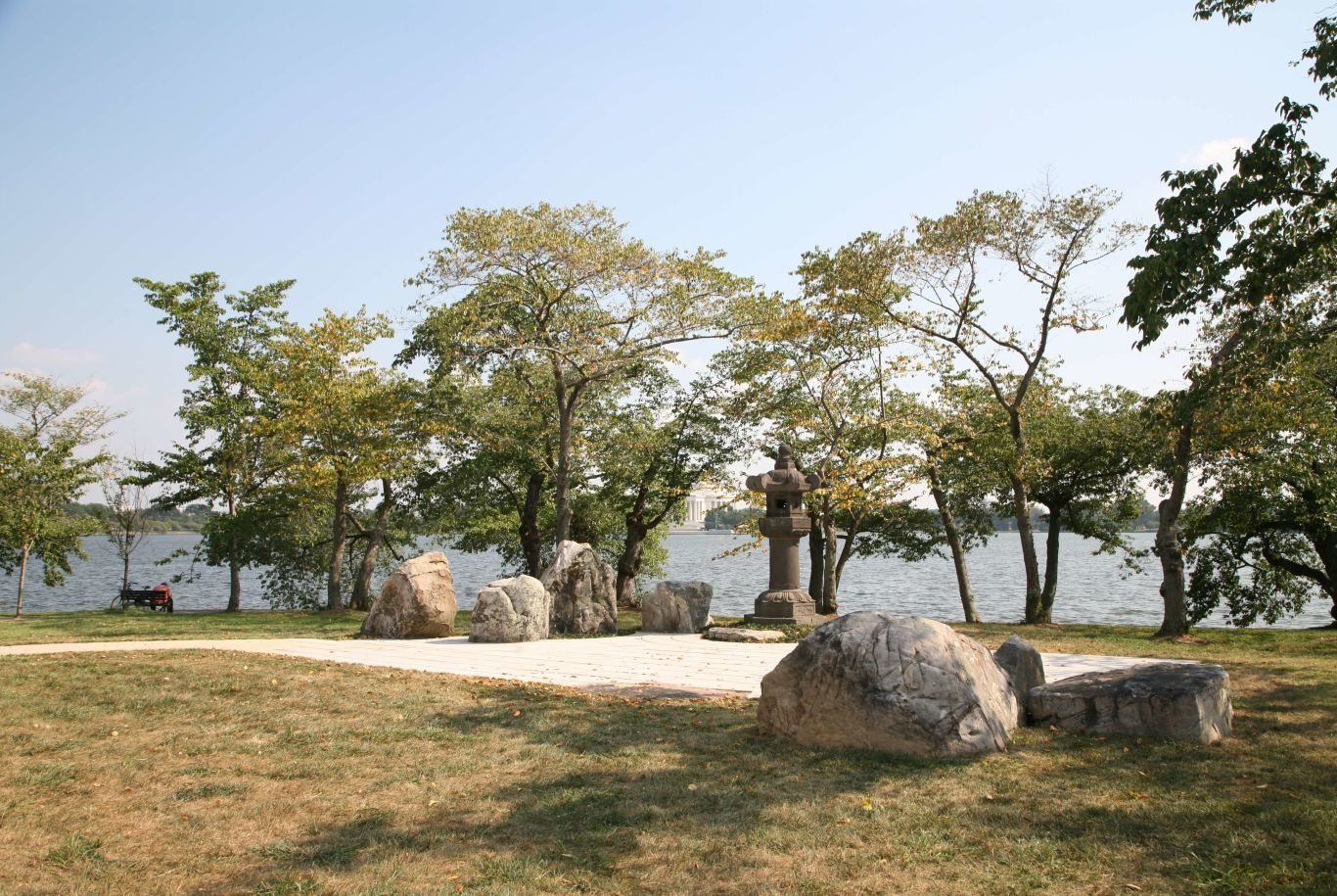 Japanese Lantern, Washington D.C. – trees, river, sculture