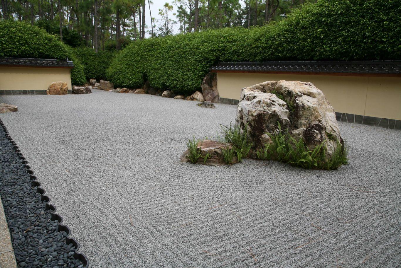 rock garden at Morikami Museum