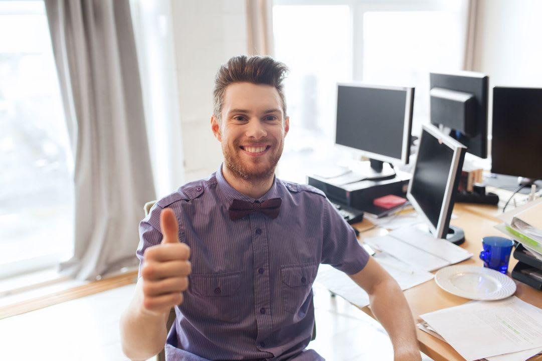 Uśmiechnięty programista