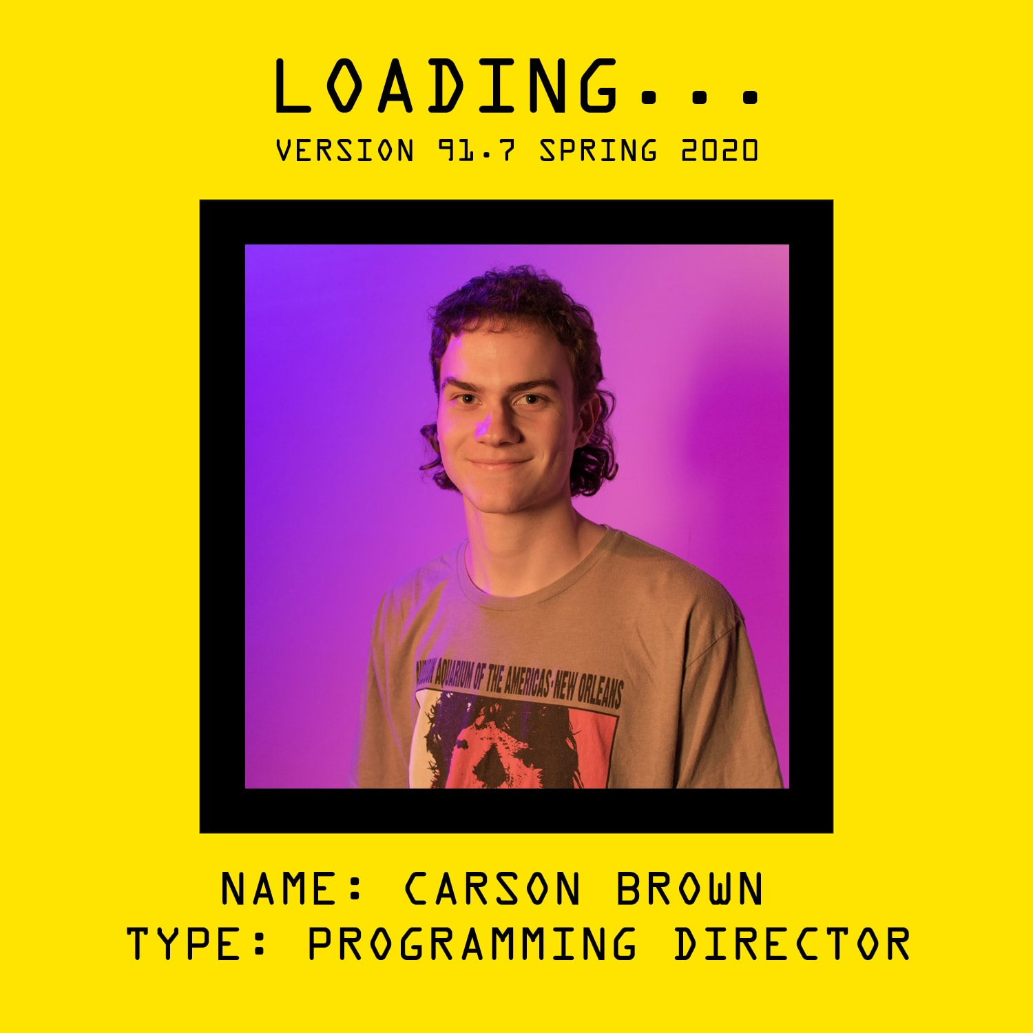 Getting to Know Your OTHER OTHER Programming Director by DJ BROWN NOTE