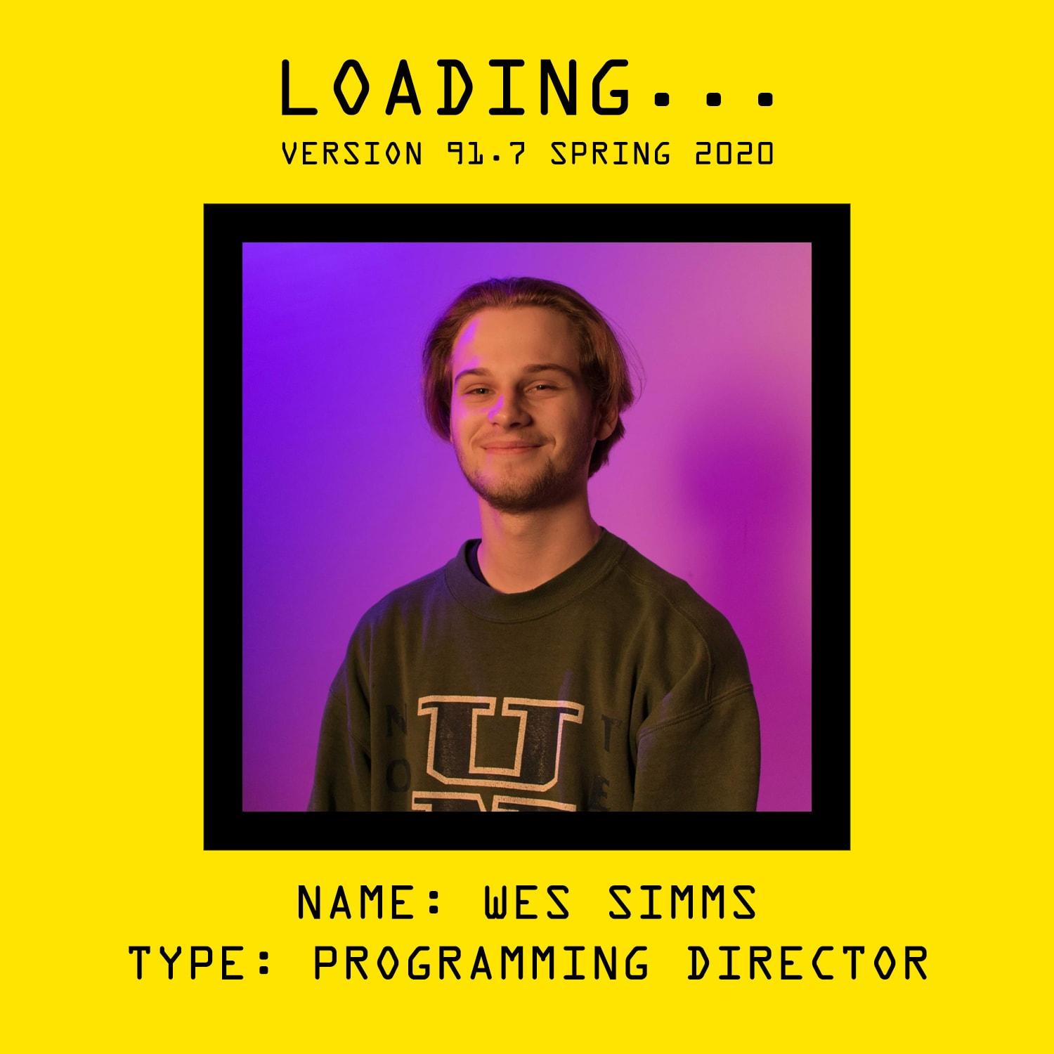 Getting to Know Your OTHER Programming Director by Wes Simms