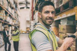 Happy UK worker