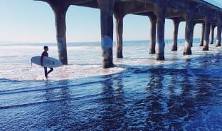 1월, 따뜻한 겨울의 서핑 명소