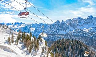 2월, 겨울 알프스 스키