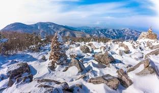 1월, 눈 덮인 하얀 태백