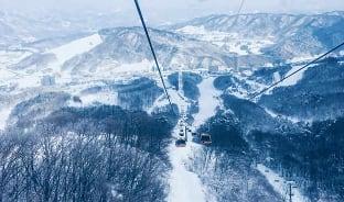 11월, 올림픽 성지에서 스키 타기