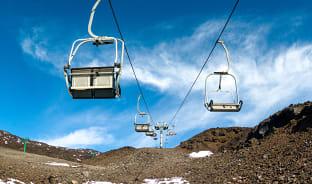 12월, '불의 산'에서 스키를?