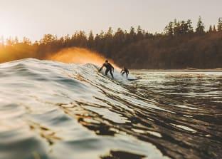 토피노 겨울 서핑