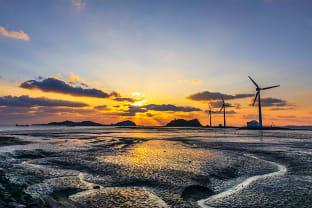대부도 탄도항 풍력발전소