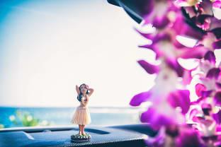 하와이 꽃목걸이