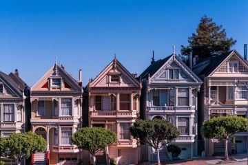 Photo of row of classic victorian houses in san francisco to illustrate post about 2017 ultimate guide to real estate crowdfunding for non-accredited investors