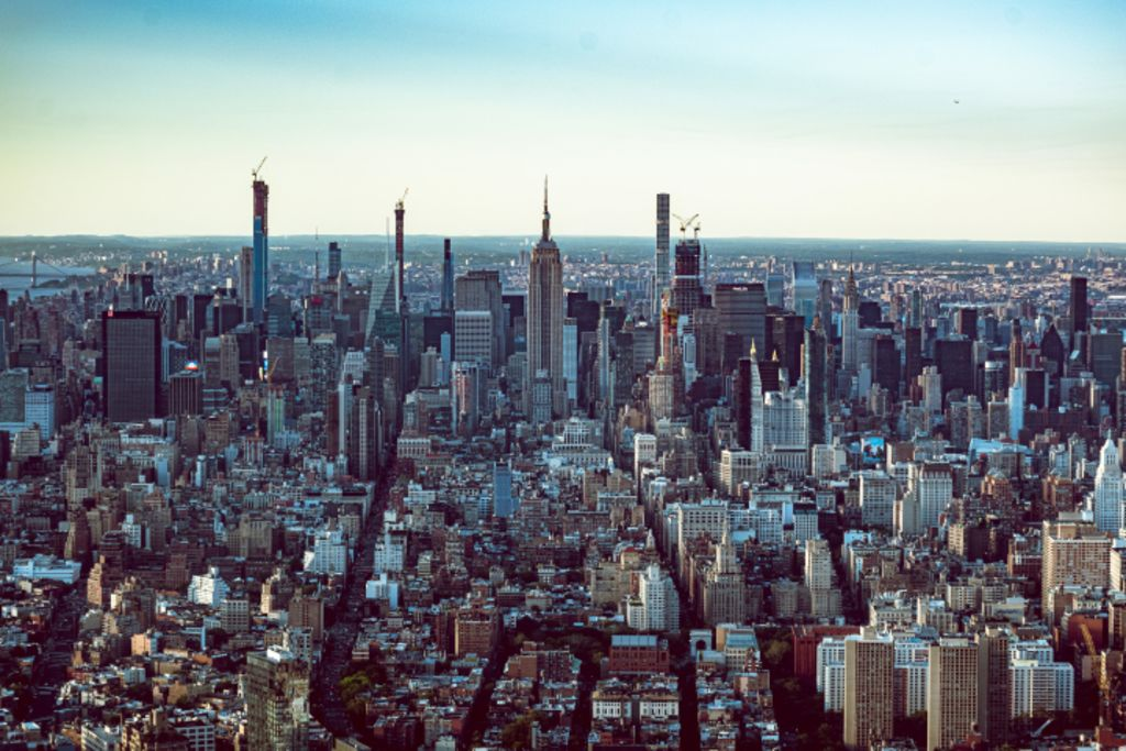 Photo of New York City from the air