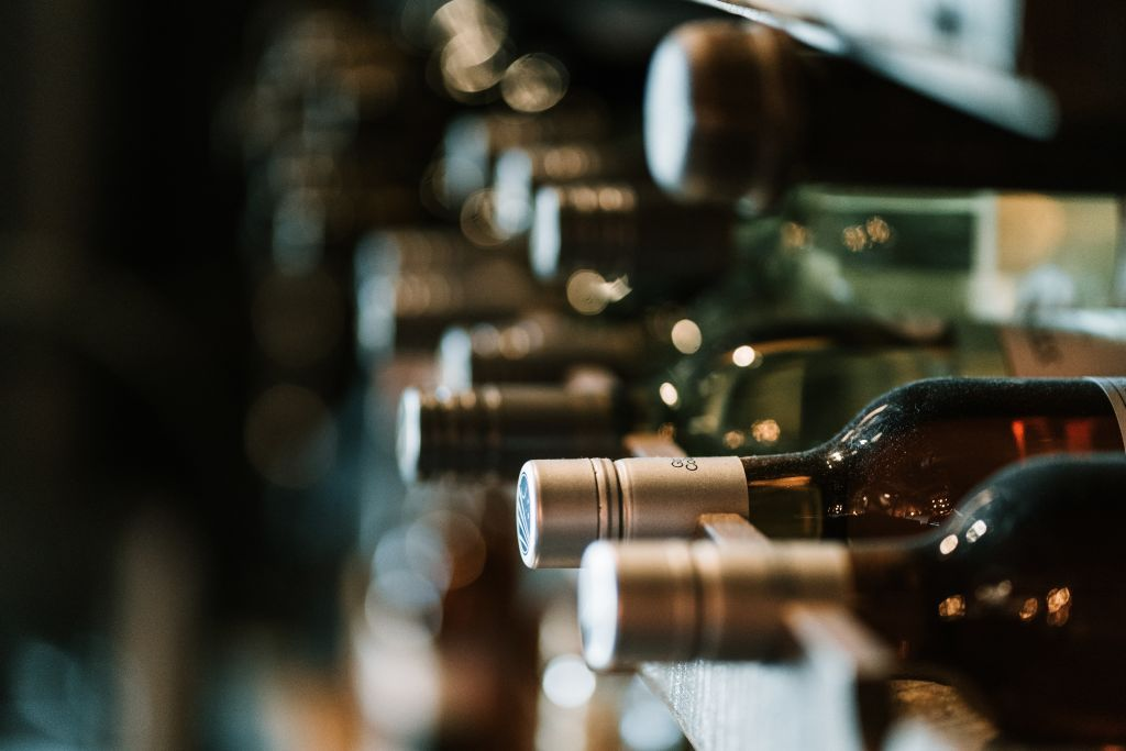 Photo of wine bottles in a wine rack