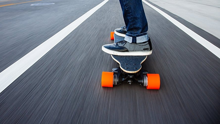Picture of someone riding a boosted board, one of the investments in my crowdfunding portfolio