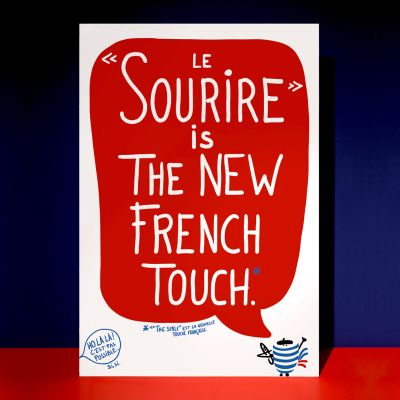 """Affiche """"Sourire is the New French Touch"""""""