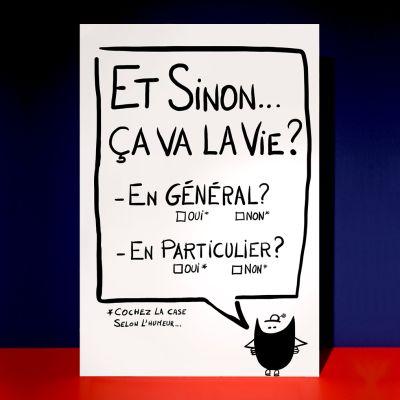 "Affiche ""Et sinon la vie ça va ?"""