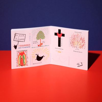 "Stickers ""Sourire religieux"""