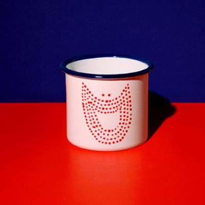 Mug Sourire à points rouges