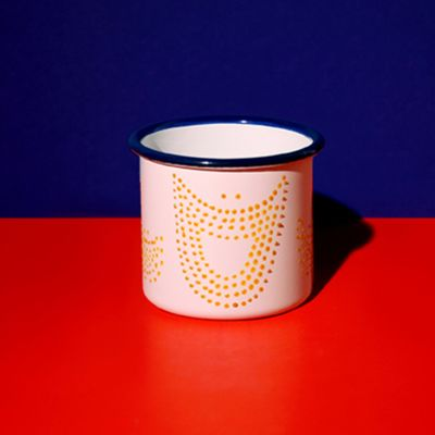 Mug Sourire à points jaunes