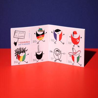 """Stickers """"Sourire dans le monde"""""""