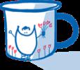 Mugs souriants