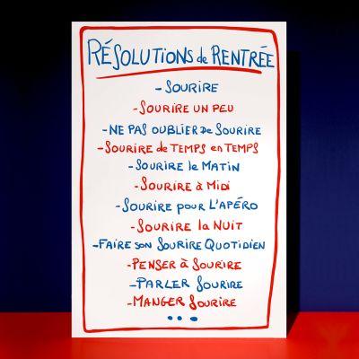 Affiche «Résolutions de rentrée»