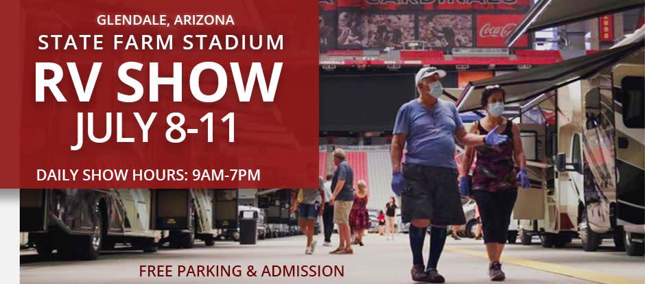state farm stadium free rv show july 8-11