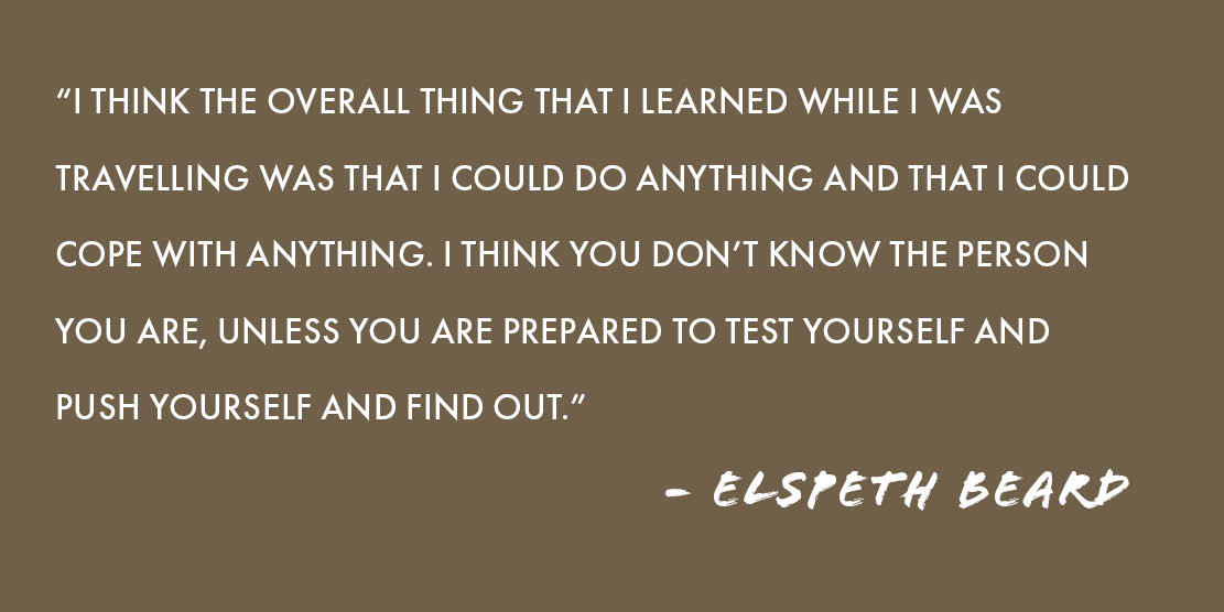 Elspeth Beard Quote on Overlanding