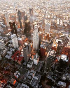 Los Angeles California City Scape