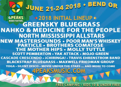 4 Peaks Music Festival Flyer
