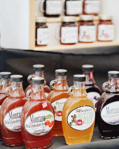 Shopping for local goods? Pick up homeade jam and syrup at this Quartzsite vendor!