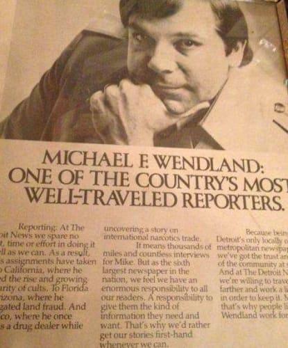Reporter Mike Wendland Newspaper