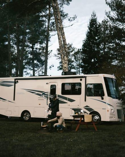 Camping in a Class A RV