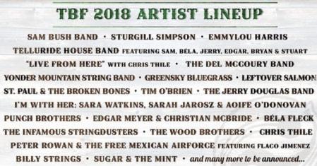 Telluride Bluegrass Festival Flyer